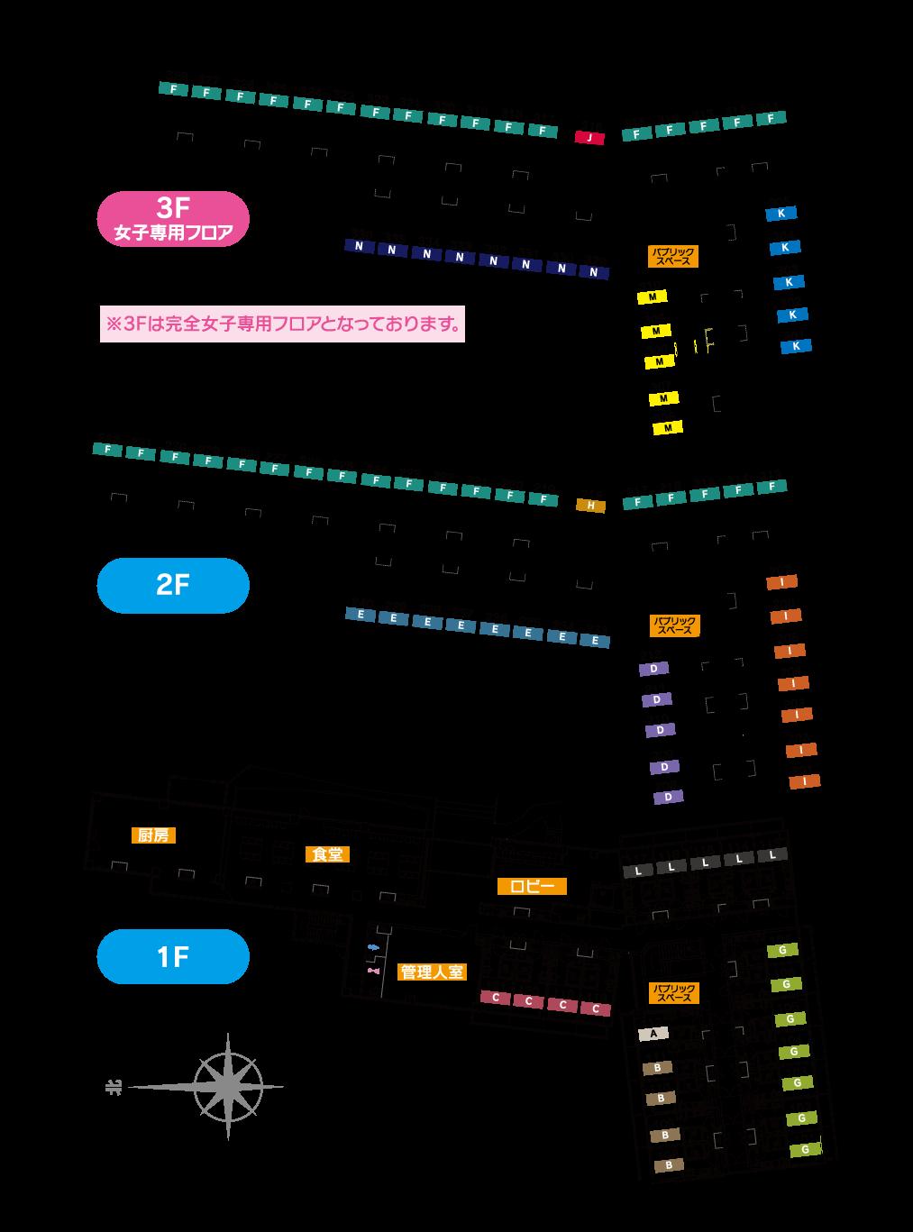 ティーズカレッジ大阪大学前フロアマップ
