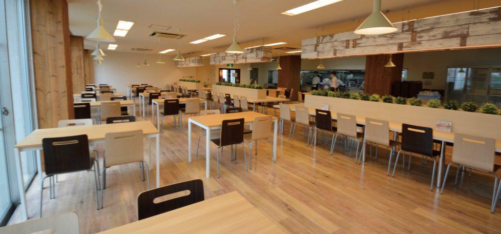 ナチュラルなデザインの食堂で食事を楽しんでいただけます 宅都プロパティ大阪学生向けマンション総合サイト|studentroom