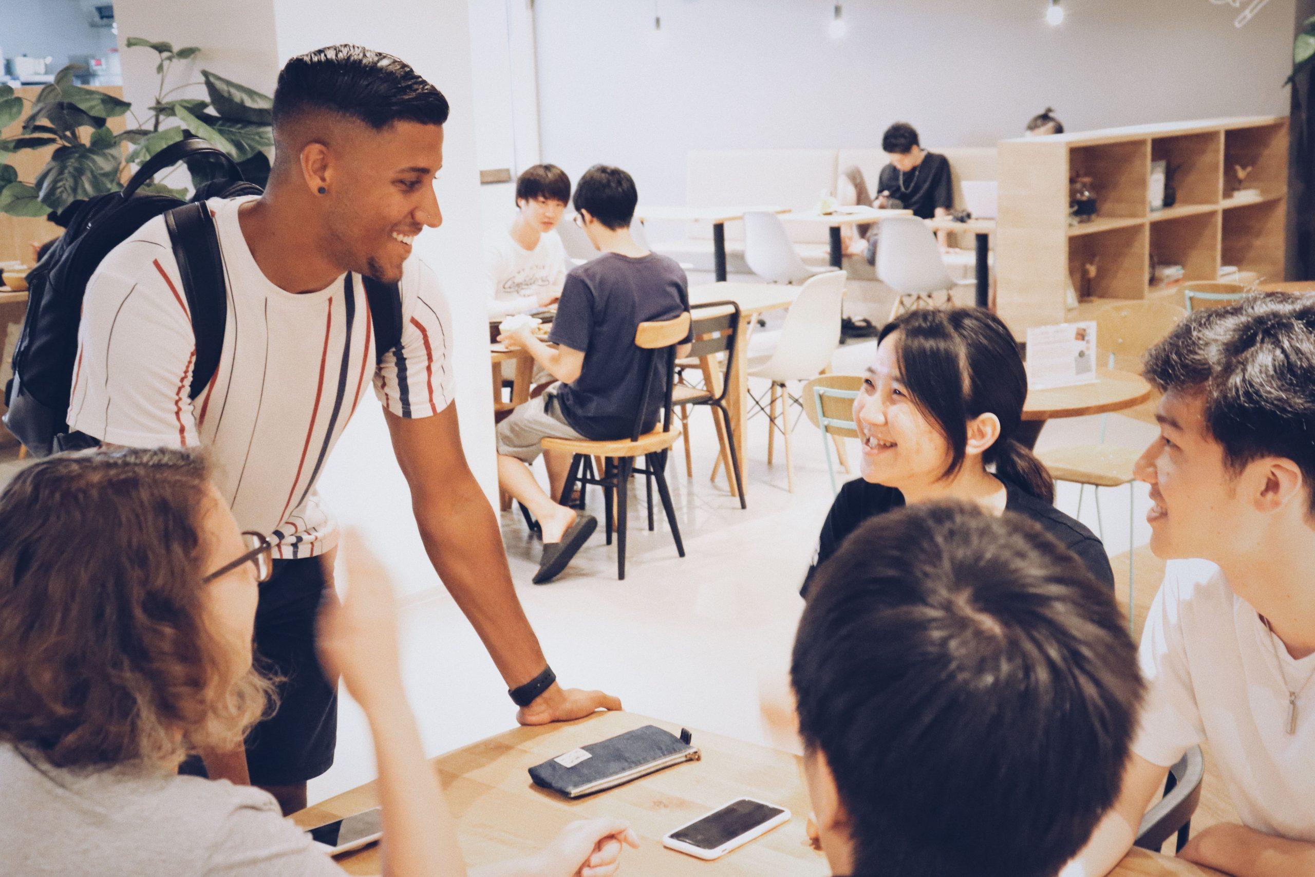 外国人留学生との国際交流もできる