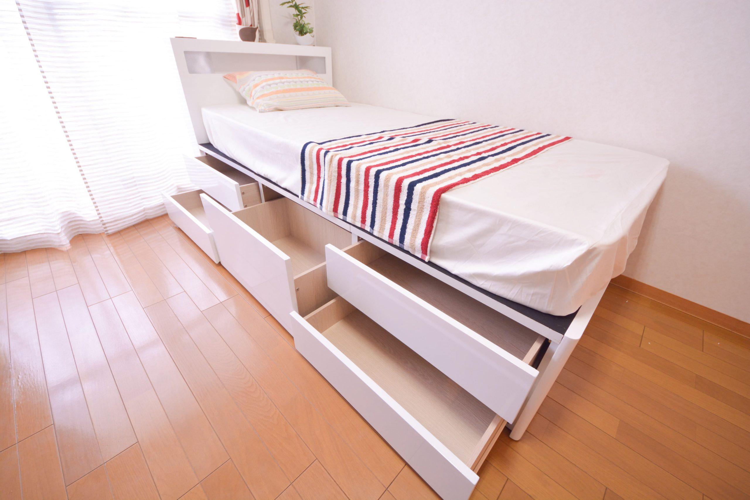 ベッド(2段引き出し)
