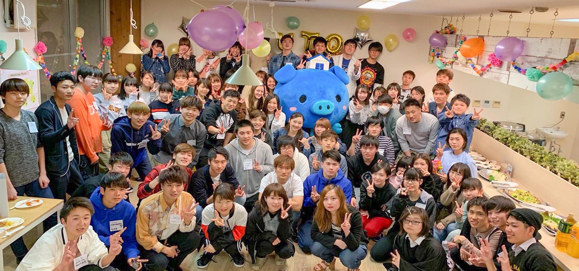 「ティーズカレッジ梅田北」4月にはウェルカムパーティを開催しています 宅都プロパティ大阪学生向けマンション総合サイト studentroom