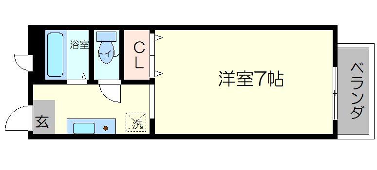 ヴィラプレフェール2 A棟の間取り図