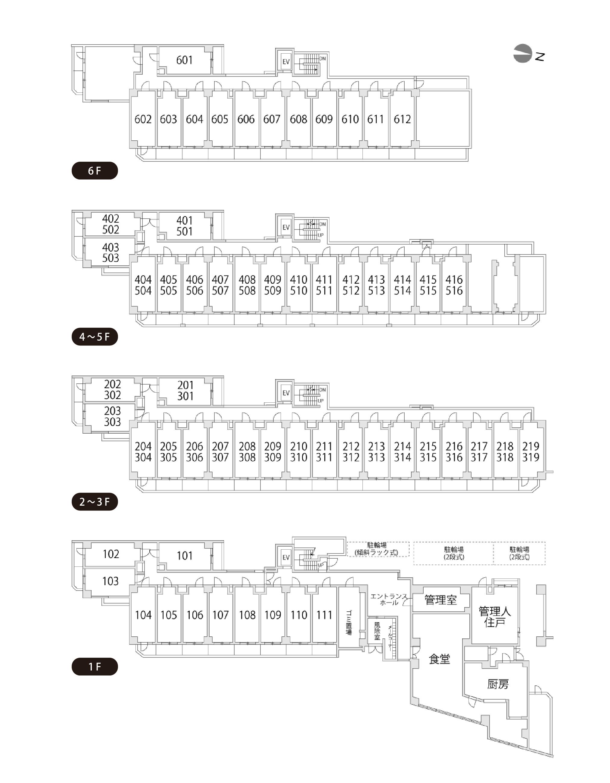カレッジコート石橋阪大前フロアマップ